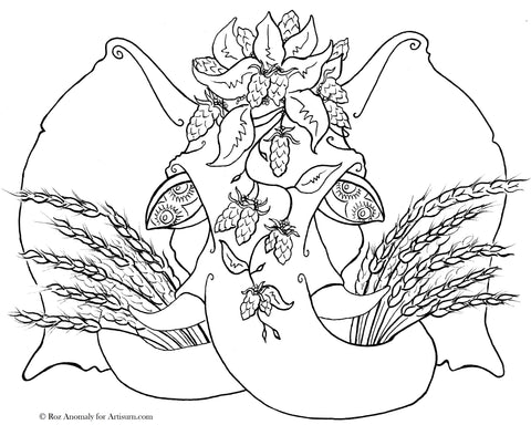 Double Vision Coloring Page PDF