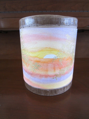 Handmade Golden Sunset Scattering or Green Burial Sharing Eco Friendly Funeral Urn