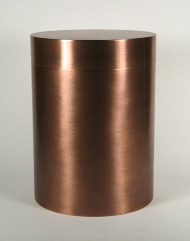 Canister Style Copper Cremation Urn for Ashes