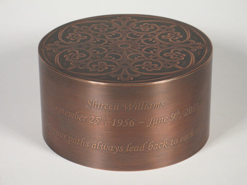 Handcrafted Copper Crown Cremation Urn