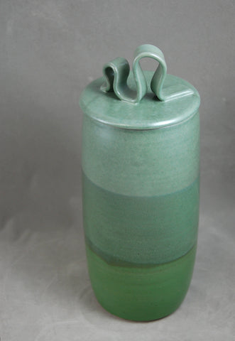 Field of Greens Individual Size Ceramic Cremation Urn for Ashes