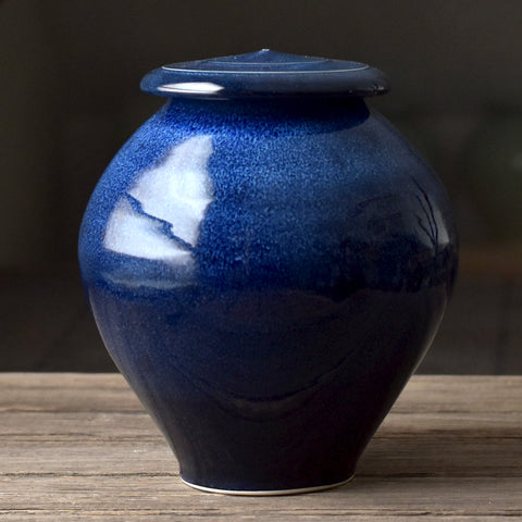 Handmade ceramic urn for ashes