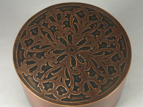 Handmade Copper Cremation Funeral Round Urn For Ashes
