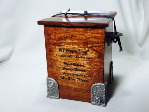 Handmade Wooden Chest Cremation Urn For Ashes