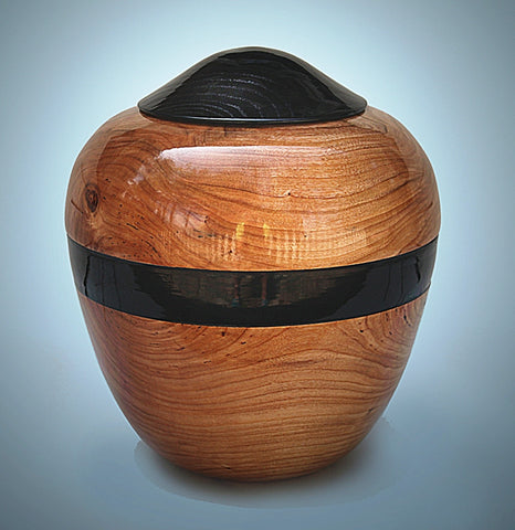 Handmade Cherry Cremation Wooden Urn for Ashes