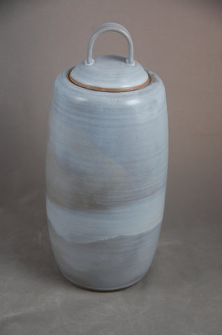 Handmade Pearl White Ceramic Cremation Urn For Ashes