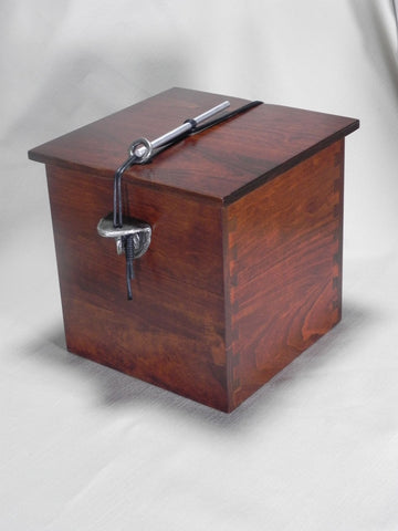 Handmade Wooden Individual Size Chest Urn for Ashes