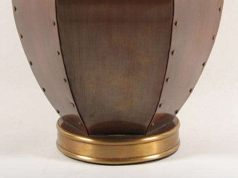 Handcrafted Orleans Copper Cremation Urn Bottom
