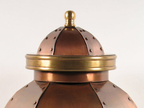 Handcrafted Orleans Copper Cremation Urn Lid