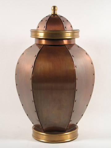 Handcrafted Orleans Copper Cremation Urn