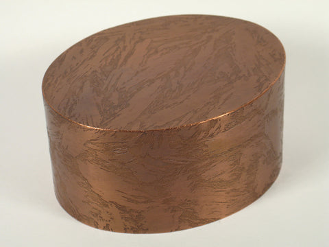 Handcrafted Oval Copper Cremation Urn