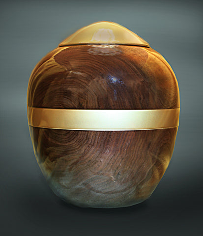 Handcrafted Black Walnut Cremation Urn