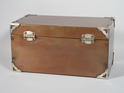 Handmade Royal Copper Chest Cremation Urn For Ashes