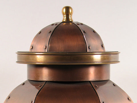 Handcrafted St. Louis Copper Cremation Urn Lid