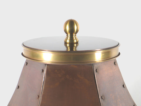 Handcrafted Ursuline Copper Cremation Urn Lid