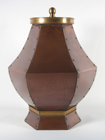 Handcrafted Ursuline Copper Cremation Urn