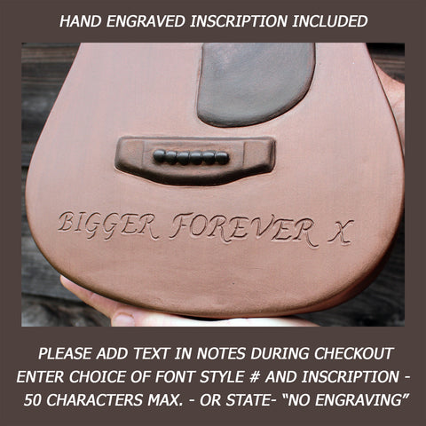 Engraving for guitar cremation ceramic urn for ashes