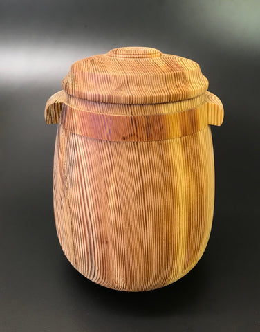 Heart Pine Pet or Sharing Urn With Screw On Lid for Ashes