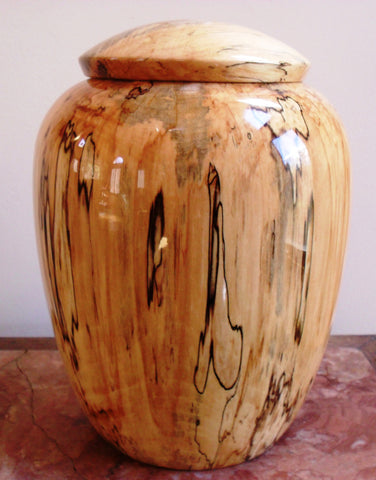 Handmade Maple Companion Funeral Cremation Wooden Urn for Ashes
