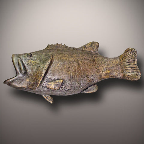 Handmade Bass Fish Ceramic Cremation Urn