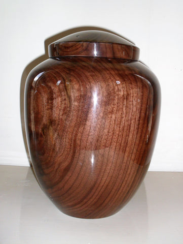 Black Walnut Handmade Cremation Urn for Ashes