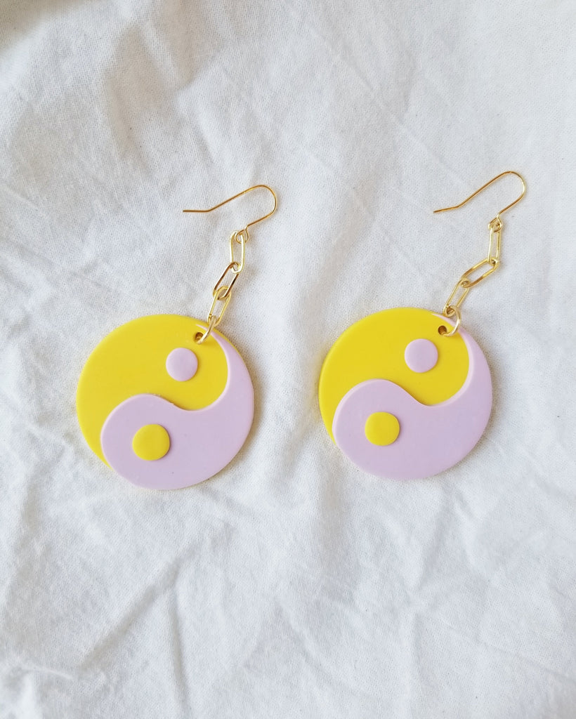 Yin Yang Earring in Yellow - shopbanshee - Chungawawa