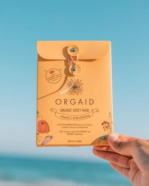 Organic Sheet Mask | Vitamin C and Revitalizing - shopbanshee - Orgaid