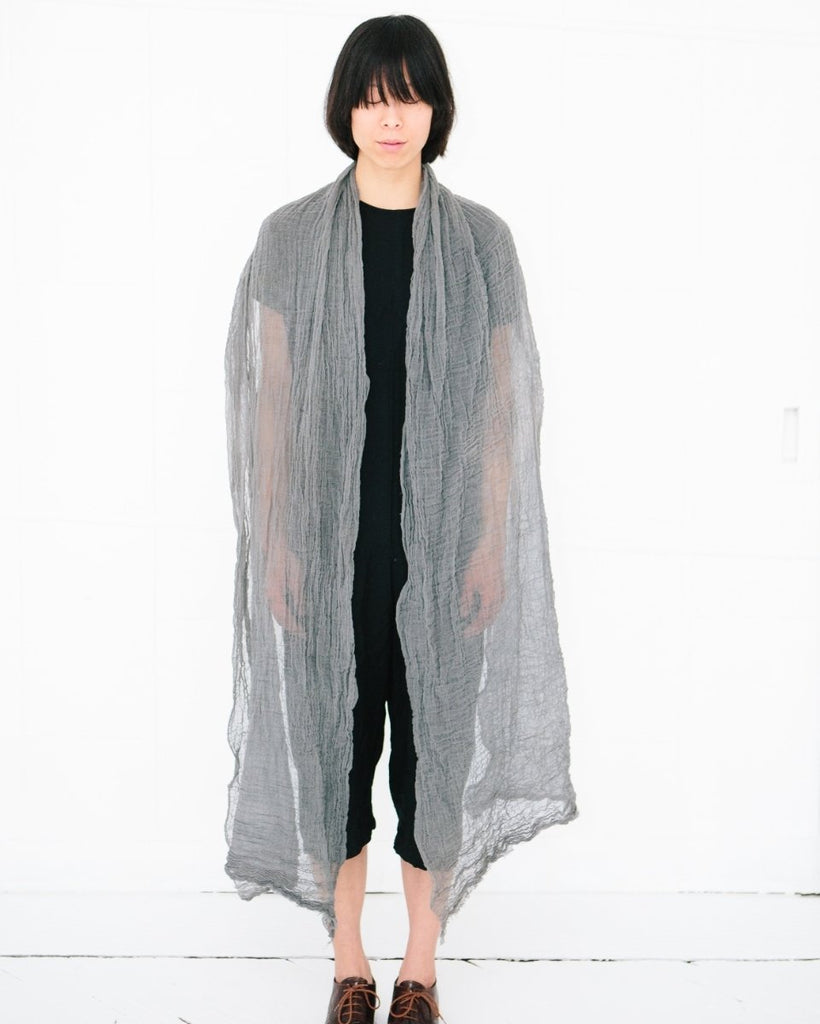 Cotton Scarf / Fog - shopbanshee