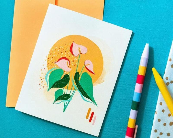 Anthurium Card - shopbanshee - Maile Lani