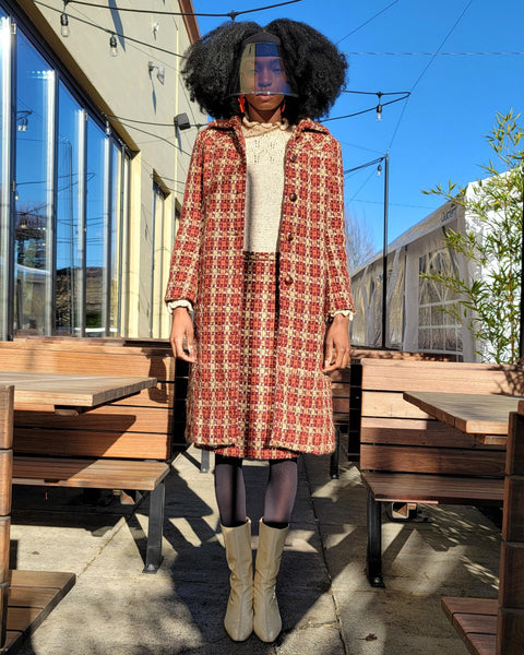 Alberta Ferretti Plaid Coat Set - shopbanshee - Vintage