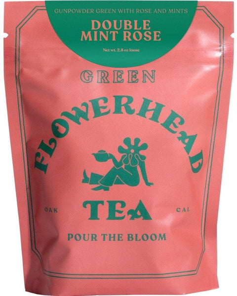 Double Mint Rose Loose Tea - shopbanshee - Flowerhead Tea