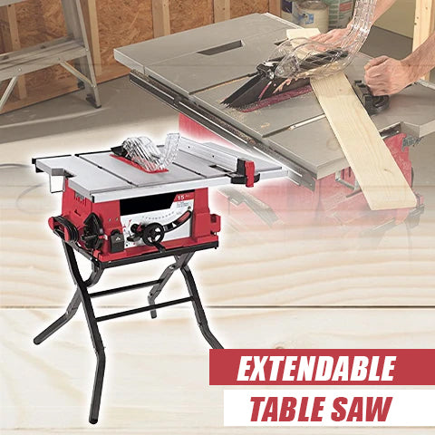 Extendable table saw