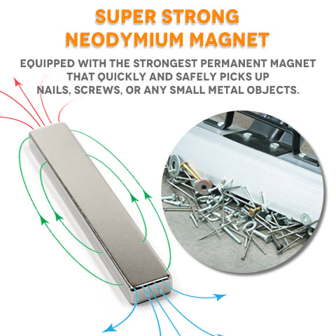 Neodymium magnet material of the sweeper