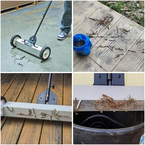 Different types of metal you can pick up with the Magnetic Sweeper