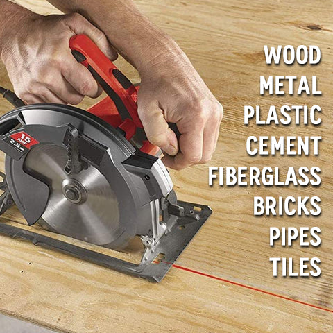 4 Inch Circular Saw with Beam Laser Guide types of material it can cut