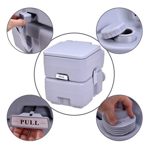 5 Gallon Portable Flush Toilet is secure to use
