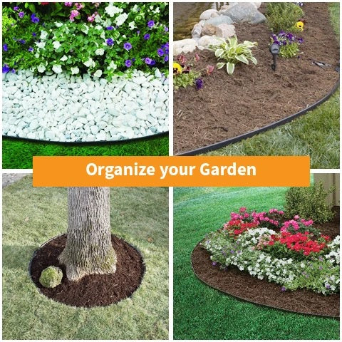 Different garden organizations with lansdcape edging kit