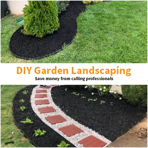 DIY landscaping with gardening tools