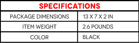Specifications of 8 Piece Impact Socket Adapter and Reducer Set