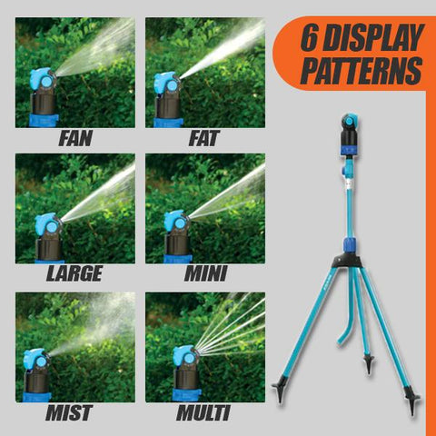 6 Different Spray Patterns using a Telescopic Sprinkly