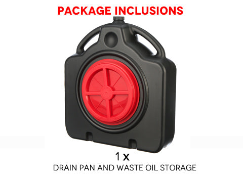 Drain Pan and Waste Oil Storage