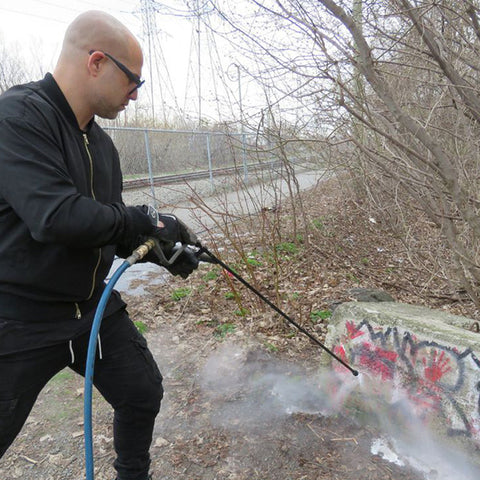 (Image of Corey Fleischer with his Pressure Washer)