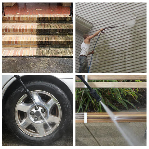 Different types of cleaning with SPX200E Compact Electric Pressure Washer
