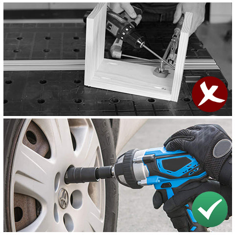 Without the Universal Joint Swivel Socket Adapter VS using the Universal Joint Swivel Socket Adapter