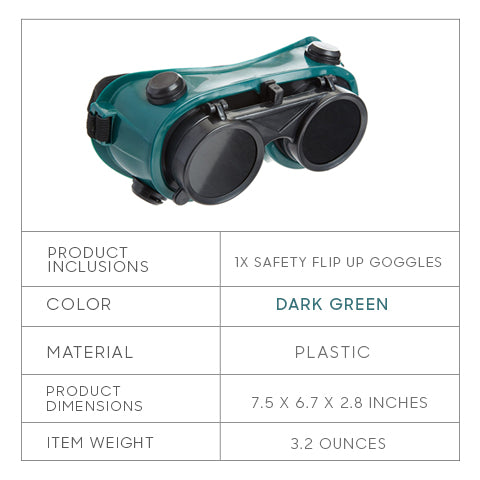 Safety Flip Up Goggles Specifications