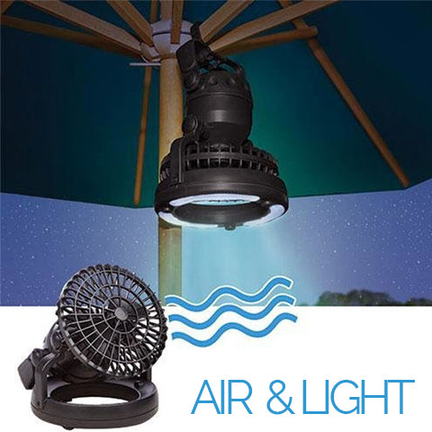 Camping lantern with fan