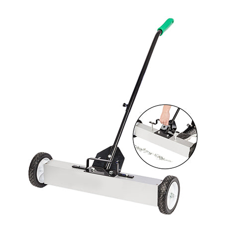 Magnetic Sweeper with a Quick-Release Latch