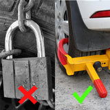 Using traditional locks on wheels vs. Using a tire claw clamp