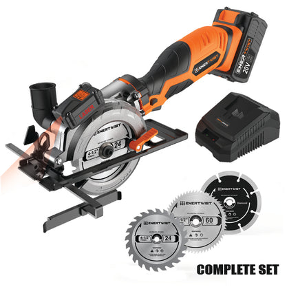 20V Cordless Circular Saw with Laser Guide