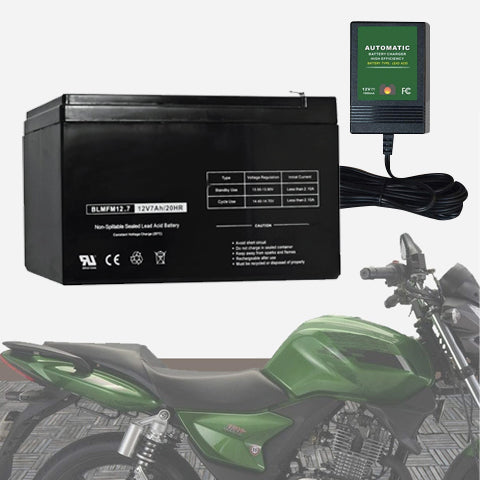 Motorcycle Battery With Smart Charger